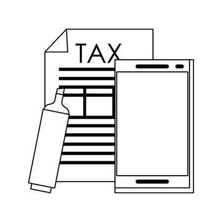 state government tax business balance calculation work personal finance elements cartoon vector illustration graphic design  イラスト・ベクター素材