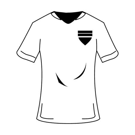 Soccer player tshirt sport clothes vector illustration graphic design Ilustracja