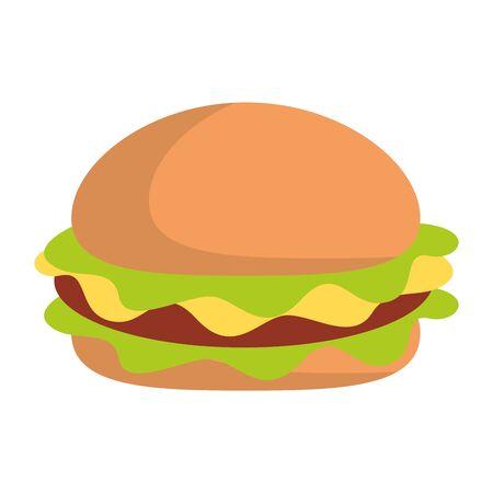 Fast food hamburger food symbol vector illustration graphic design Illustration