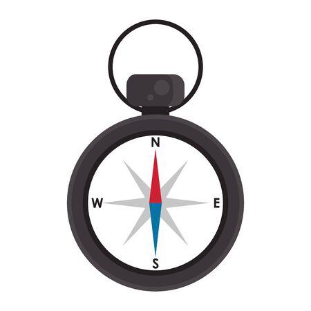 Vintage navigation compass isolated symbol vector illustration graphic design Ilustração