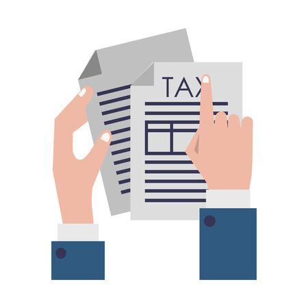 state government tax business balance calculation work personal finance elements cartoon vector illustration graphic design Illusztráció