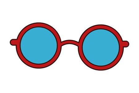 glasses design icon cartoon isolated vector illustration graphic design Ilustração