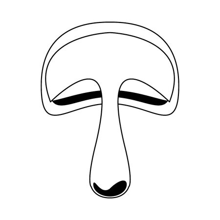 mushroom icon over white background, vector illustration Иллюстрация