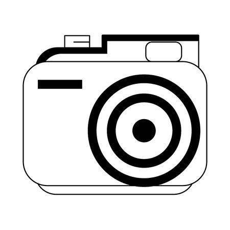 retro camera icon over white background, vector illustration
