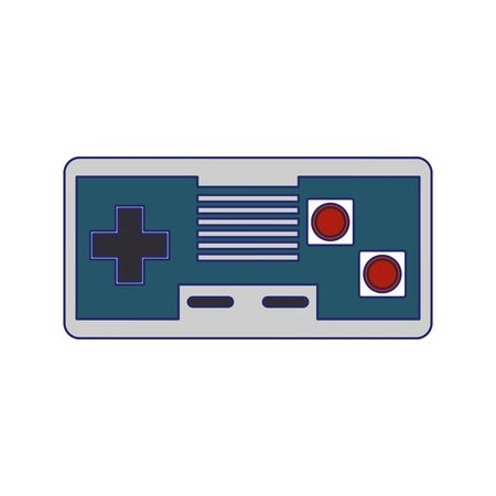 Modern videogame console gamepad with buttons vector illustration graphic design Stock Illustratie
