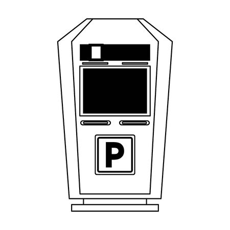 parking meter icon over white background, vector illustration