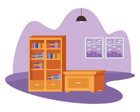 Office and workplace elements library and drawer cartoons ,vector illustration graphic design. Banque d'images - 131494253