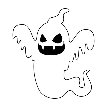 ghost floating halloween character icon vector illustration design Banque d'images - 131492234