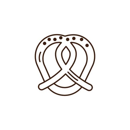 pretzel oktoberfest celebration isolated icon vector illustration design
