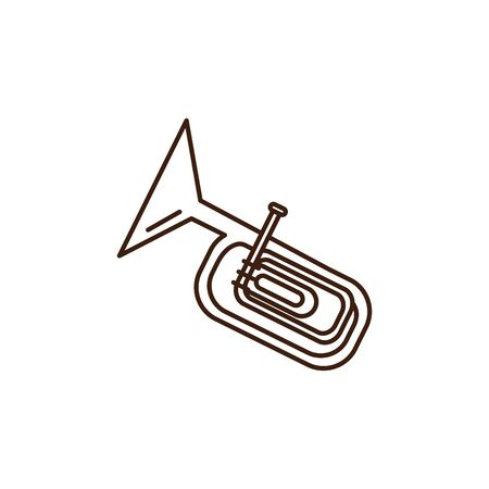 oktoberfest trumpet instrument celebration isolated icon vector illustration design