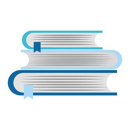 Stack of books over white background, vector illustration Çizim