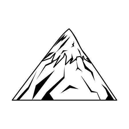 mountain fuji icon over white background, vector illustration