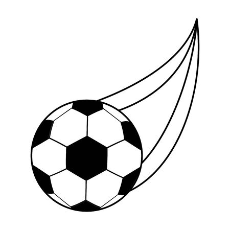 soccer ball flying icon over white background, vector illustration
