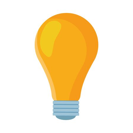 light bulb icon over white background, colorful design. vector illustration Stock Illustratie
