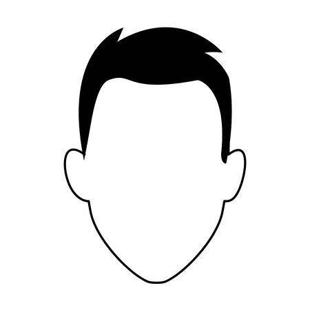 avatar man icon over white background, flat design. vector illustration