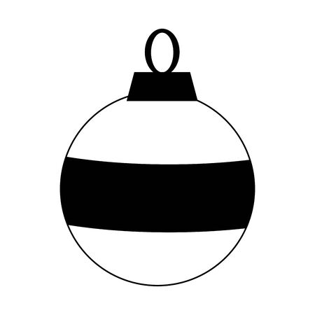 christmas ball ornament icon over white background, flat design. vector illustration