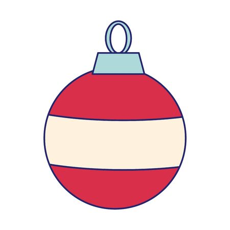 christmas ball ornament icon over white background, colorful design. vector illustration