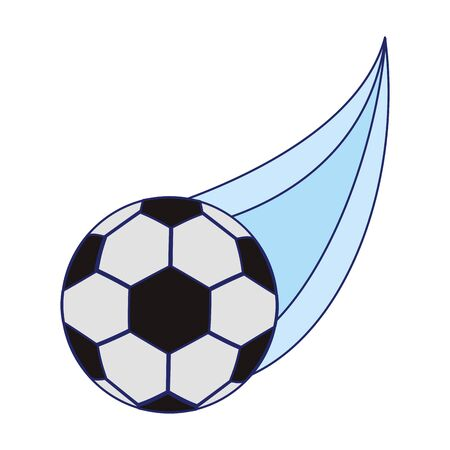 soccer ball flying icon over white background, vector illustration