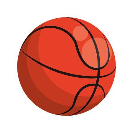 basketball ball icon over white background, vector illustration Ilustração