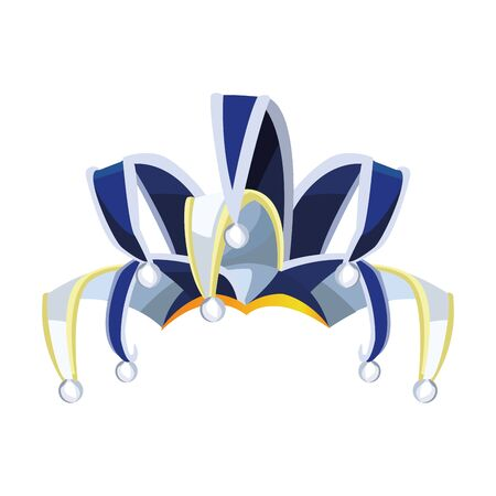 Elegant Harlequin ornament icon over white background, colorful design. vector illustration