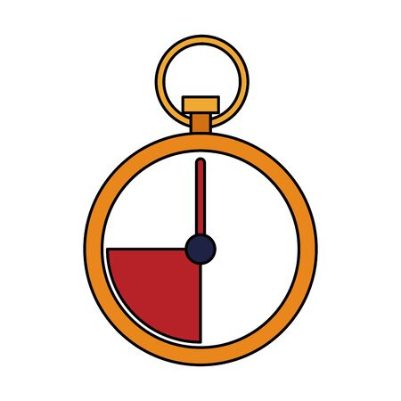 colorful design of chronometer icon over white background, vector illustration