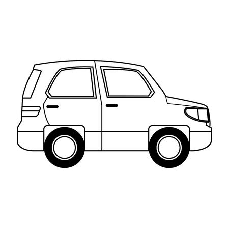 car vehicle sideview icon over white background, vector illustration Ilustracja