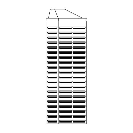 big building icon over white background, vector illustration