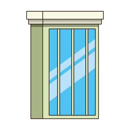 city building icon over white background, colorful design. vector illustration Stock Illustratie