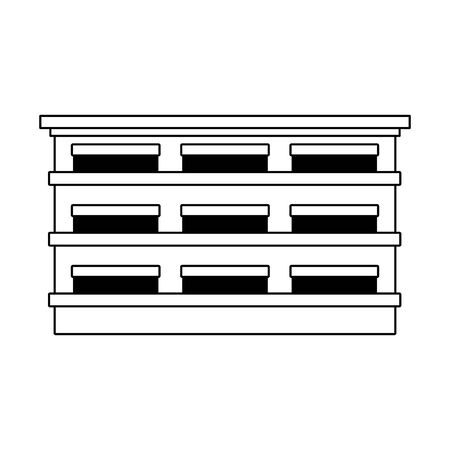 city building icon over white background, vector illustration Illusztráció