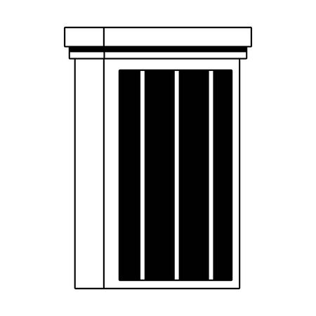 city building icon over white background, flat design. vector illustration Illusztráció