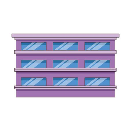 city building icon over white background, vector illustration 向量圖像