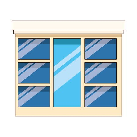 window icon over white background, vector illustration
