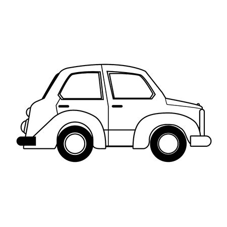 classic car icon over white background, vector illustration
