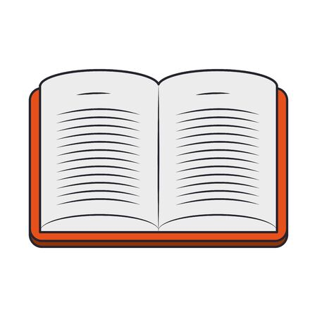 open book icon over white background, vector illustration
