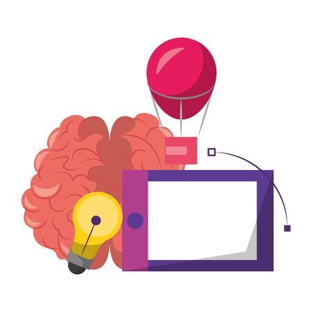 Graphic design digital software tools and symbols for creative process, art and ideas. illustration editable image Archivio Fotografico - 131869230