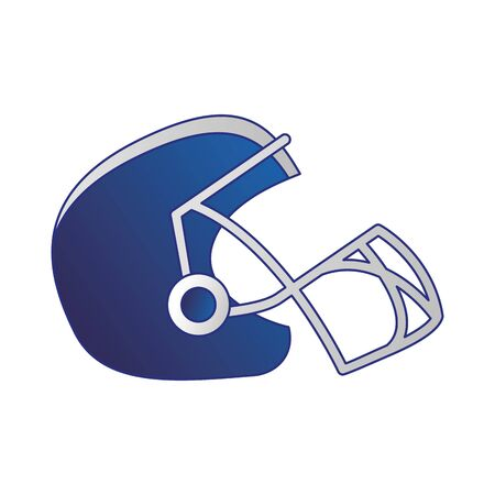 american football sport game helmet uniform protection accesory cartoon vector illustration graphic design Banco de Imagens - 131914467