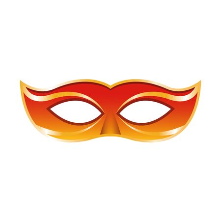 simple Masquerade mask icon over white background, colorful design. vector illustration
