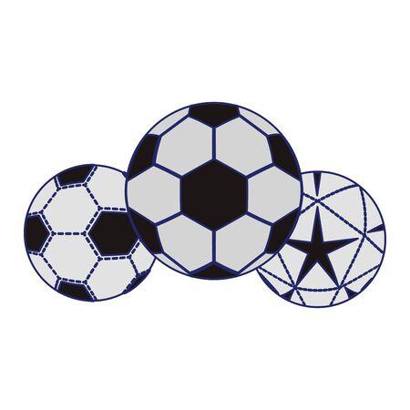 soccers balls icon over white background, vector illustration  イラスト・ベクター素材