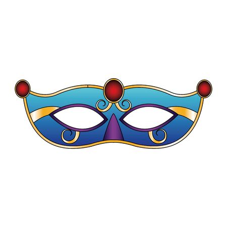 carnival mask icon over white background, colorful design. vector illustration Stok Fotoğraf - 131974972