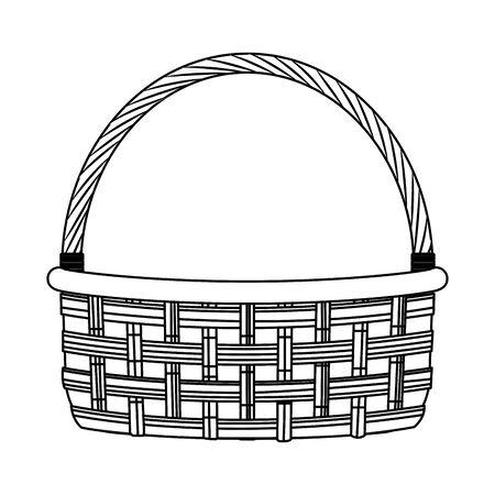 empty fruits basket icon over white background, vector illustration Illustration