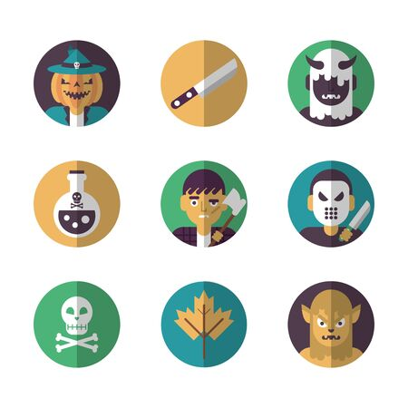 bundle of halloween set icons vector illustration design