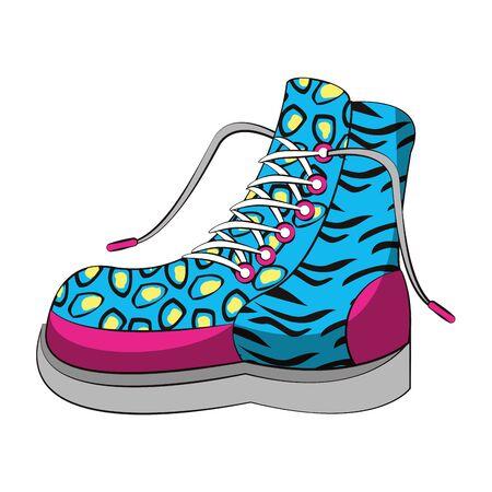 pop art retro vintage classic sexy cool trendy boot cartoon vector illustration graphic design  イラスト・ベクター素材