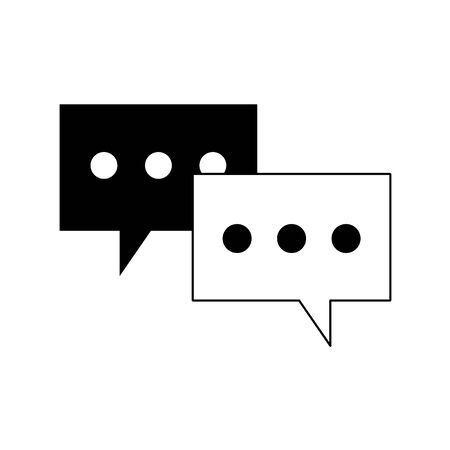speech bubbles icon over white background, vector illustration