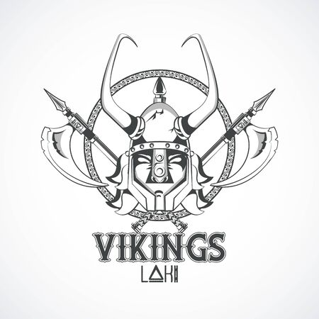 Vikings warriors and medieval drawings weapons, printed Tshirt templates, clothes and fashion styles. vector illustration graphic design