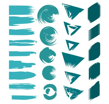 abstract paint brush stroke color strains cartoon vector illustration graphic design Standard-Bild - 132559258