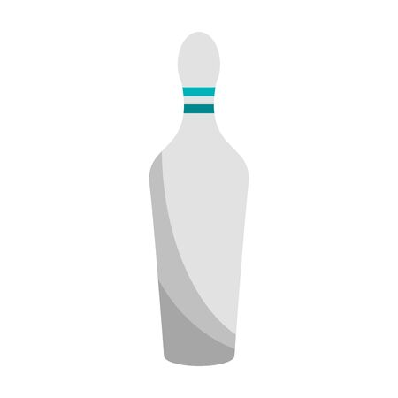 bowling pin icon over white background, vector illustration