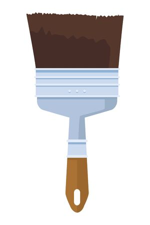 Paint brush construction tool symbol isolated cartoon vector illustration graphic design. Vectores