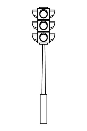 Traffic light semaphore isolated cartoon vector illustration graphic design