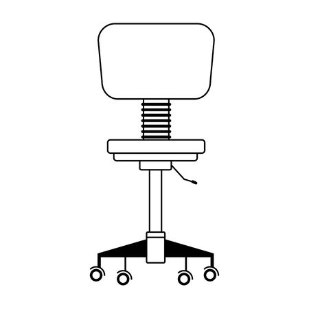desk chair icon over white background, vector illustration