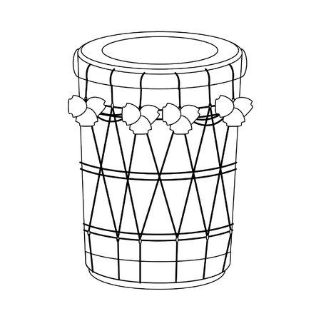 drum mridangam icon cartoon isolated vector illustration graphic design  イラスト・ベクター素材